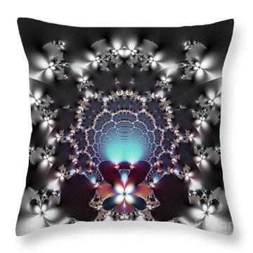 Dreamcatcher And Fireflies Throw Pillow by Renee Trenholm