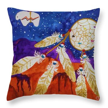 Dreamcatcher Over The Mesas Throw Pillow