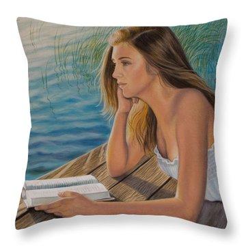 Dreamer Throw Pillow by Holly Kallie