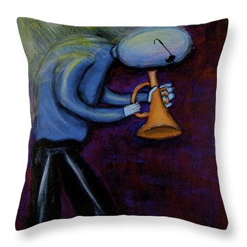 Throw Pillow featuring the painting Dreamers 99-001 by Mario Perron