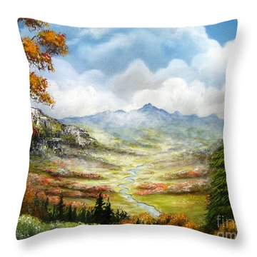 Throw Pillow featuring the painting Dreamin On by Patrice Torrillo