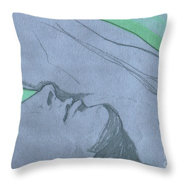Dreaming Throw Pillow by First Star Art