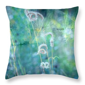Dreaming In Blue Throw Pillow by Carol Groenen