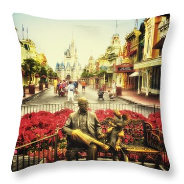 Dreaming Of Paradise Walt Disney World Throw Pillow by Thomas Woolworth
