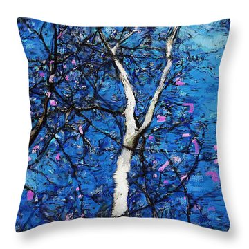 Throw Pillow featuring the digital art Dreaming Of Spring by David Lane
