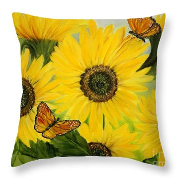Throw Pillow featuring the painting Dreaming Of Summer by Carol Sweetwood