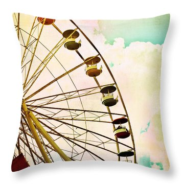 Dreaming Of Summer - Ferris Wheel Throw Pillow by Colleen Kammerer