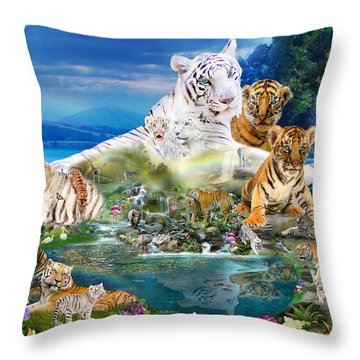 Dreaming Of Tigers  Variation  Throw Pillow