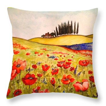 Dreaming Of Tuscany Throw Pillow