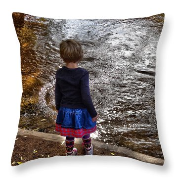 Throw Pillow featuring the photograph Dreaming On Water by Lanita Williams