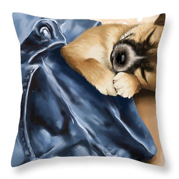 Dreaming Throw Pillow by Veronica Minozzi