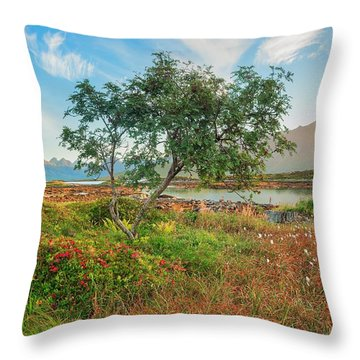 Dreamlike Throw Pillow by Maciej Markiewicz