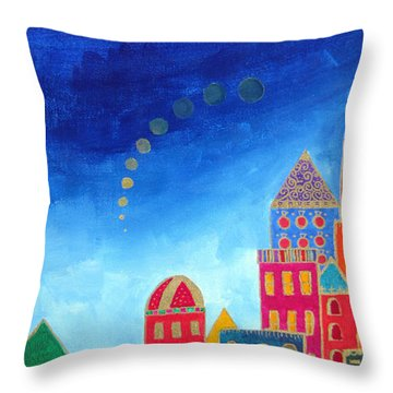 Dreams Above Jerusalem Throw Pillow