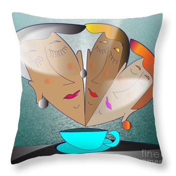 Dreams Cafe Throw Pillow by Iris Gelbart