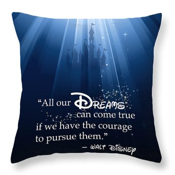 Throw Pillow featuring the digital art Dreams Can Come True by Nancy Ingersoll