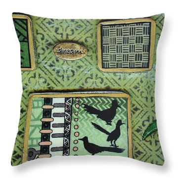 Dreams Collage Throw Pillow