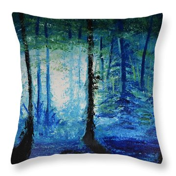 Dreams In The Woods  Throw Pillow by P Dwain Morris