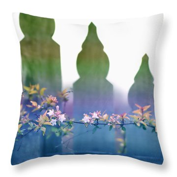 Dreams Of A Picket Fence Throw Pillow by Holly Kempe