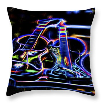 Dreams Of Music Throw Pillow by Linda Phelps