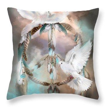 Dreams Of Peace Throw Pillow