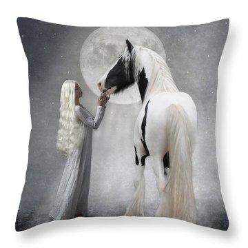 Dreams Of White Throw Pillow