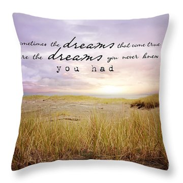 Throw Pillow featuring the photograph Dreams by Sylvia Cook
