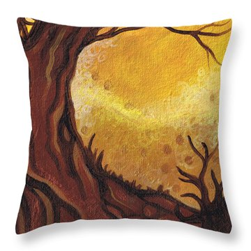 Dreamscape In Fall Tones #1 Of 4 Throw Pillow by Laura Noel