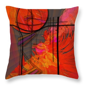 Dreamscape 06 - Tangerine Dream Throw Pillow