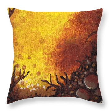 Dreamscape In Fall Tones #3 Of 4 Throw Pillow by Laura Noel