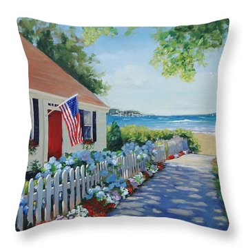 Dreamscape Throw Pillow by Laura Lee Zanghetti