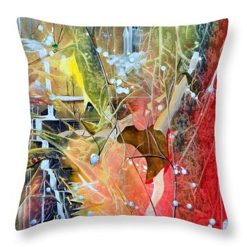 Dreamscape Of Aaralyn Throw Pillow by Jackie Mueller-Jones