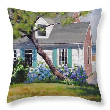 Dreamscape Two Throw Pillow by Laura Lee Zanghetti