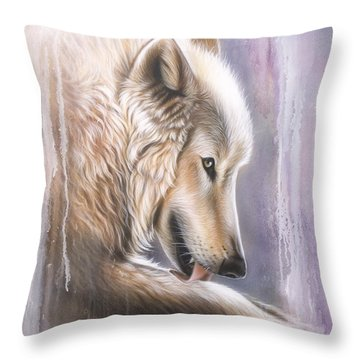 Dreamscape Wolf IIII Throw Pillow