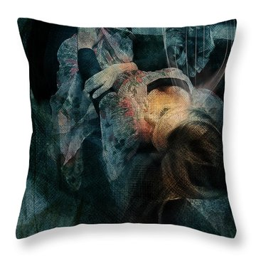 Throw Pillow featuring the digital art Dreamweaver Urban Fantasy by Galen Valle