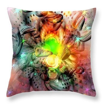 Dreamworld Colors By Nico Bielow Throw Pillow