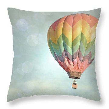 Dreamy Balloon Pair Sky Throw Pillow by Andrea Hazel Ihlefeld