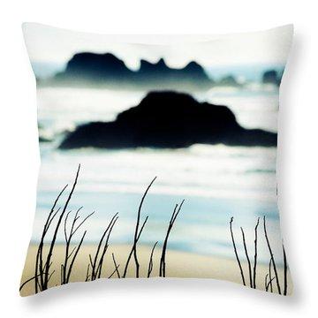 Dreamy Beach Throw Pillow by Debi Bishop