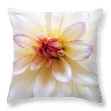 Dreamy Dahlia Throw Pillow