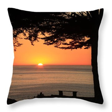 Dreamy Day's End Throw Pillow