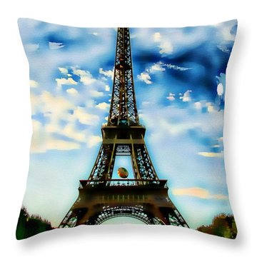 Dreamy Eiffel Tower Throw Pillow