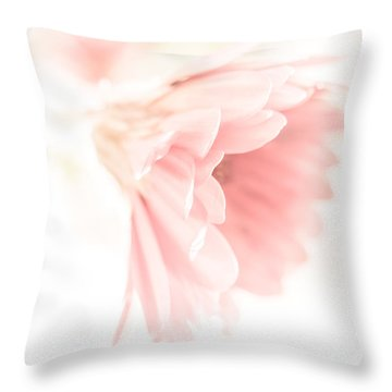 Dreamy Gerbera Throw Pillow by Yvon van der Wijk