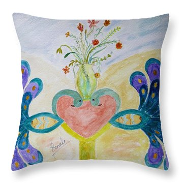 Dreamy Heart Throw Pillow by Sonali Gangane