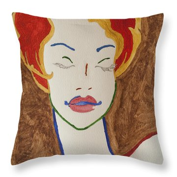 Sleeping Beauty Throw Pillow