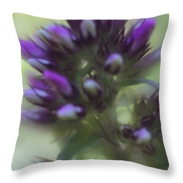 Throw Pillow featuring the photograph Dreamy Lavendar Buds by Mary Lou Chmura