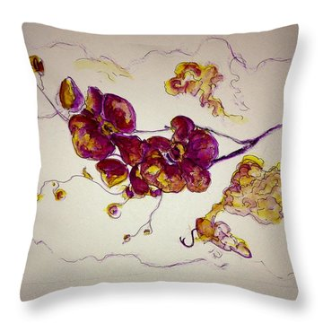 Dreamy Orchid Throw Pillow