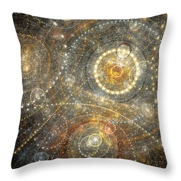 Dreamy Orrery Throw Pillow