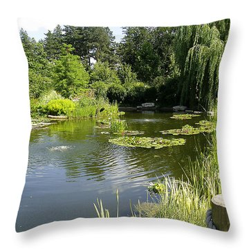 Throw Pillow featuring the photograph Dreamy Pond by Verana Stark
