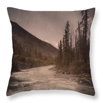 Dreamy River Throw Pillow