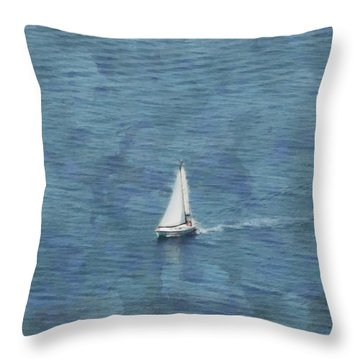 Dreamy Summer Sails Throw Pillow