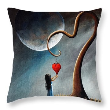 Dreamy Surreal Original Landscape Painting  Throw Pillow